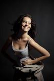 żeński uśmiechnięty nastolatek Zdjęcie Royalty Free