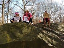 Żeński upełnomocnienie, kobiety ` s Marzec, central park, NYC, NY, usa Zdjęcie Royalty Free