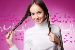żeński valentine Zdjęcia Stock