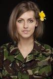 żeński wojskowy Zdjęcie Stock
