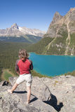 żeński wycieczkowicza jeziora ohara Zdjęcie Royalty Free