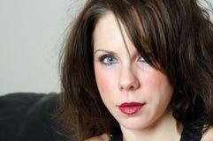 żeński zamknięty żeński portret Zdjęcie Royalty Free