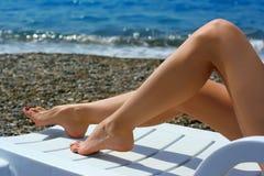 żeńskie nogi Fotografia Royalty Free