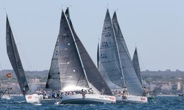Żeglować biegowego regatta w Mallorca obrazy stock