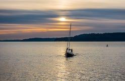 Żeglować w port Zdjęcie Royalty Free