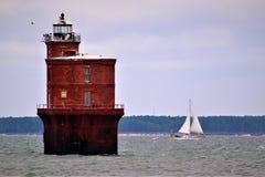 Żeglować za Chesapeake zatoki Lekkim domem Obraz Stock
