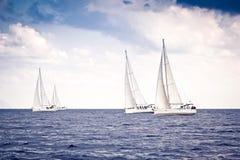 żeglowania żagli statku biel jachty Zdjęcia Stock