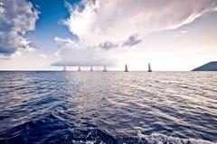 żeglowania żagli statku biel jachty Obrazy Stock