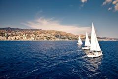 żeglowania żagli statku biel jachty Obraz Royalty Free