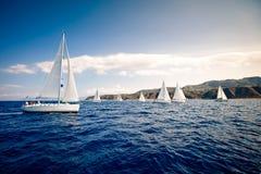 żeglowania żagli statku biel jachty Obrazy Royalty Free