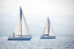 żeglowania żagli statku biel jachty Zdjęcie Royalty Free