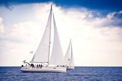 żeglowania żagli statku biel jachty Obraz Stock