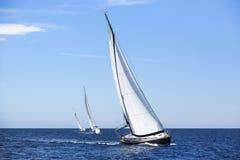 żeglowania żagli statku biel jachty Fotografia Stock