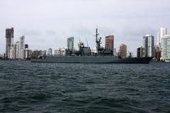 żeglowania okręt wojenny Obrazy Royalty Free