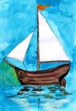 Żeglowanie łódź Zdjęcia Royalty Free