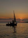 żeglowanie łódkowaty zmierzch Fotografia Royalty Free