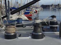 Żeglowanie łodzi szczegóły Obraz Stock