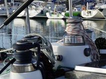 Żeglowanie łodzi szczegóły zdjęcie royalty free