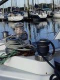 Żeglowanie łodzi szczegóły Fotografia Stock
