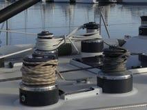 Żeglowanie łodzi szczegóły Zdjęcia Royalty Free