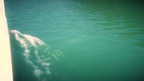 Żeglowanie rzeki powierzchnia Z fala Od łodzi deski zbiory