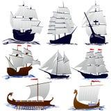 Żeglowanie starzy statki royalty ilustracja