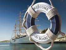 Żeglowanie statek Obrazy Royalty Free