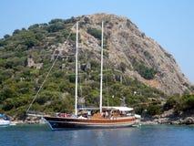 Żeglowanie wysoki omasztowywający statek Fotografia Royalty Free