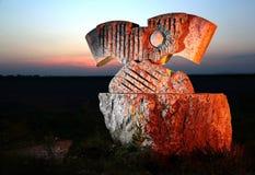 Żelazna kurtyna kamienia rzeźba Fotografia Stock