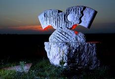Żelazna kurtyna kamienia rzeźba Zdjęcia Royalty Free