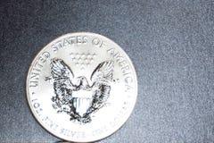 Żelazna moneta w kwartalnym dolarze dwadzieścia pięć centów zdjęcie royalty free