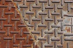 żelazna rdzy do ściany Fotografia Royalty Free