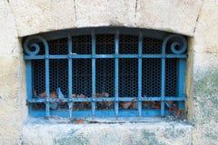 Żelaznego Antycznego okno żelaza Antyczny okno fotografia royalty free