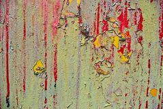 żelaznej farby ośniedziała obdzierająca powierzchnia Obrazy Royalty Free