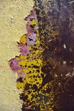 żelaznej farby ośniedziała obdzierająca powierzchnia Zdjęcie Stock