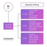 Żelazni podstawowi micronutrients ilustracji