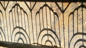 Żelazny drzwiowy cień zdjęcie stock