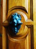 Żelazny lwa drzwi obraz stock