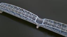 Żelazny most nad rzecznym widokiem od trutnia obraz royalty free