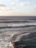 Żelazny poręcz w morzu Obraz Royalty Free