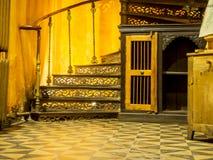 Żelazny zewnętrzny ślimakowaty schody obraz royalty free