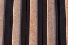 żelaznych prętów zardzewiałe Obrazy Stock