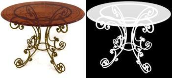 Żelazo łomota stół z maską Fotografia Royalty Free