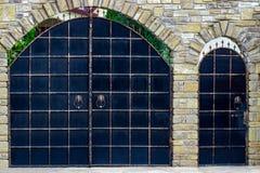 Żelazo bramy, ornamentacyjny skucie, forged elementu zakończenie obrazy royalty free