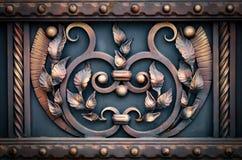 Żelazo bramy, ornamentacyjny skucie, forged elementu zakończenie zdjęcia royalty free