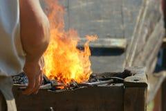 żelazo gorący strajk Zdjęcie Stock