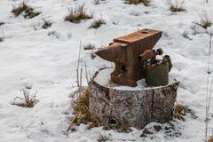 Żerdź i lodlamp zdjęcie stock
