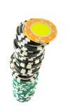 Żetony hazard stertę zdjęcia stock