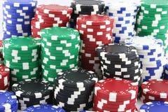Żetony izolować kasyna Obraz Stock