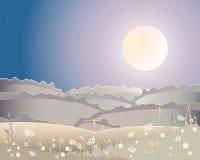 żniwa krajobrazu księżyc Fotografia Royalty Free